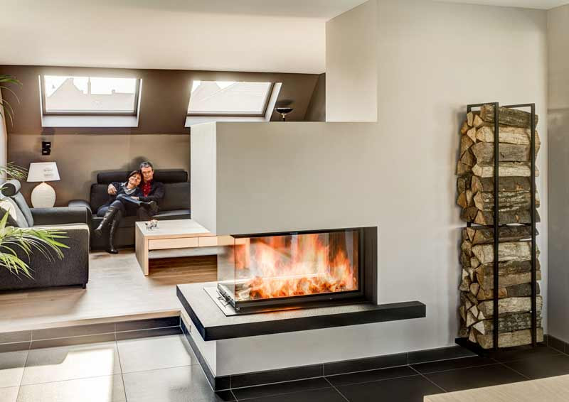 amazing chimenea moderna trifacial en madrid with chimeneas diseo lea - Chimeneas Diseo